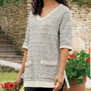 Soft Surroundings Mirage Stripe Pullover